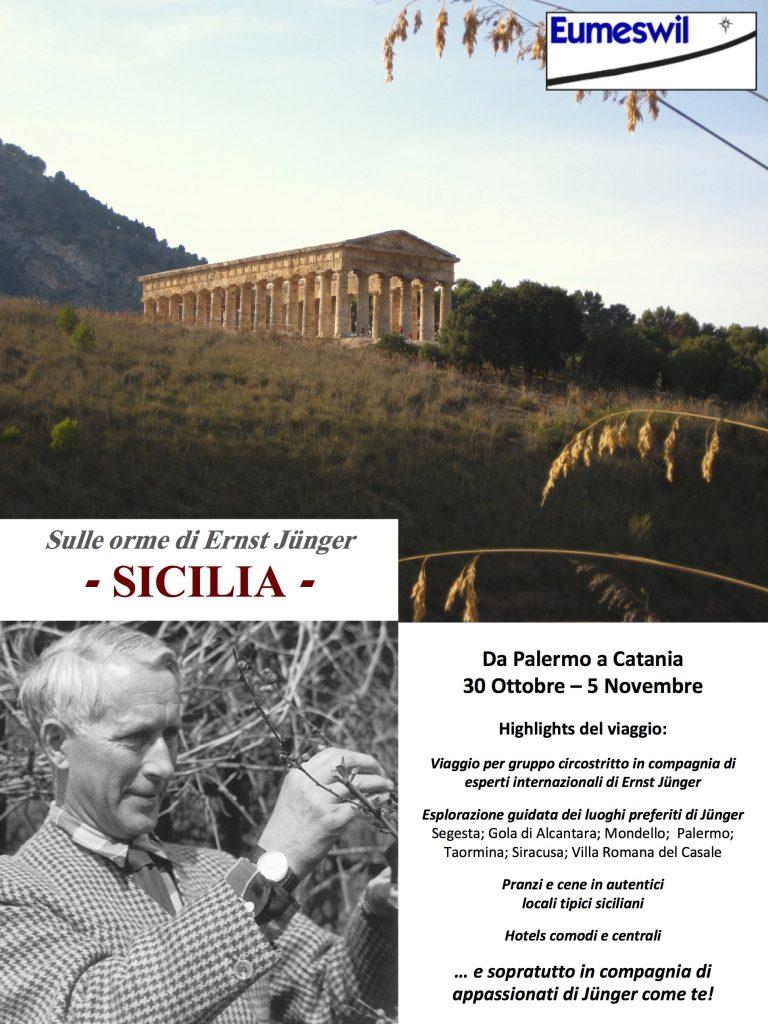 Ernst Jünger - Viaggio in Sicily 2018