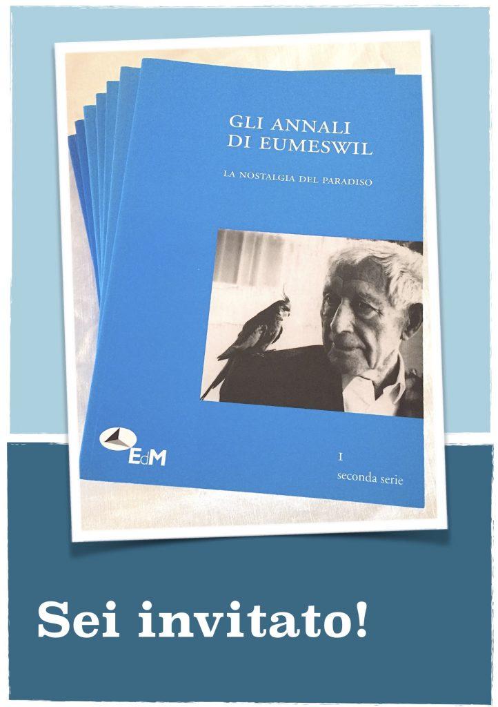 Invito alla presentazione de Gli Annali di Eumeswil 13 Maggio ore 18:30 presso Libreria Cultora, Milano